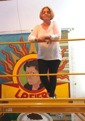 Bibiana Suarez at her studio - resized