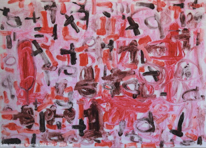 Gronk, Imiplication, Monotipia, 2014